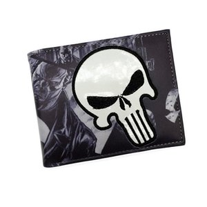 Wholesale Comics Wallet Purse Punisher Iron Man Venom Thor Cartoon Wallet With Card Holder Free Shipping on Sale