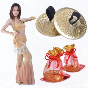 Wholesale belly dance accessories2 Pair Professional Women Bellydance Accessories Jewellery Copper Finger Cymbals Belly Dance Zills
