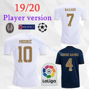 Wholesale Player Version Real Madrid HAZARD BENZEMA home away Soccer Jerseys Men player version Football Shirts Sports Uniforms