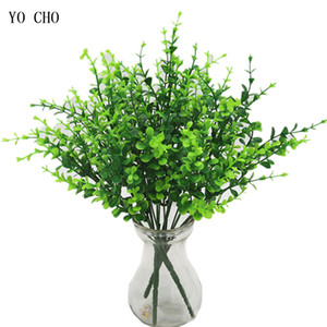 Wholesale Artificial Plants Fake Plants Fern Grass Wedding Wall Outdoor Decor Green Leaf Artificial Flowers Plastic Plante for Home Garden Decoration