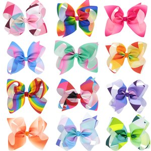Wholesale 10 colors baby girl candy color big bow headband Design Hair bowknot Children Headwear Kids Hairpin Girls Baby Hair Accessory24pcs Rainbow J