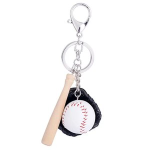 Fashion creative baseball car Keychain beautiful women's bags pendants men's personality key chain sports key ring