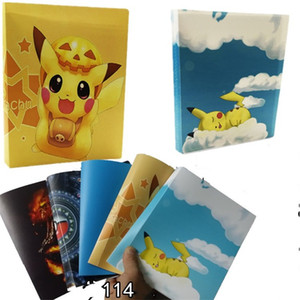 Wholesale Cute Pikachu Toy Cards Holders Capacity Kids Game Card Album Book Pvc Collector For Child Party Favors yc E1
