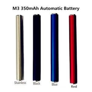 Wholesale High Quality M3 mAh Automatic Vape Battery thread batteries match TH205 TH210 glass cartridges electronic cigarette dhl free