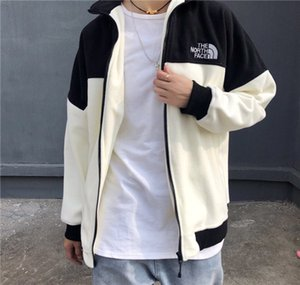 Wholesale 19FW Paris The North Hoodie Face polar fleece Brushed Hooded Pullovers Fashion Clothing Casual Jacket Outdoor Sweatshirts Men Coat