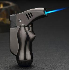 mini spray gun compact Metal Cigarette single flame Jet Torch Lighter for welding camping flame Butane Gas Refillable creative fashion gift
