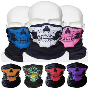 New Outdoor Skull Neck Face Bandana Mask Bike Motorcycle Helmet for Paintball Ski Sport Headband As Scarf Bib FFA3618 Mix Colors