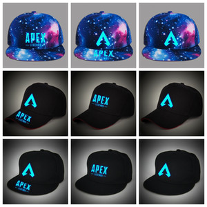 Wholesale light baseball cap resale online - Apex legends game caps Luminous summer mesh light in night outdoor baseball cap hip hop hat popular sun hats man women AAA1923