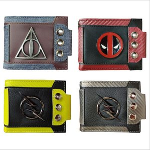 2019 new metal patch retro wallet Harry Potter Deadpool seven dragon beads wallet card wallet on Sale