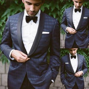 Classic Plaid Wedding Tuxedos Slim Fit Shawl Lapel Groom Designer Jacket Formal Mens Wear Only One Pieces Clothes