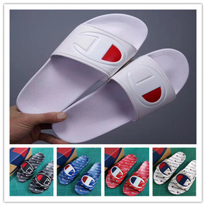 cheap mens designer slippers flip-flops fashion men champions slippers women beach bath slippers indoors scuffs sandals casual shoes hot