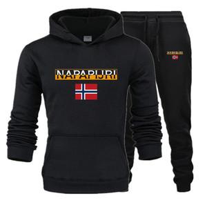 New men's hoodie suit sportswear track suit men's pullover sweater hoodie + sports pants jogging Casual