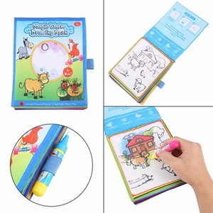 Wholesale Water Coloring Books For Kids Drawing Books With Magic Water Drawing Pen Doodle Mat Learning Educational Toy For Children Gift