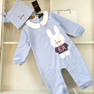Wholesale Brand New Fashion Newborn Toddler Infant Baby Boys girls Romper Long Sleeve Jumpsuit Playsuit with hat Little Boy Outfits Clothes