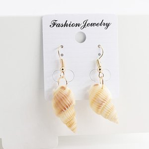 2019 New Fashion Simple Women natural conch shell dangle earrings Bohemia summer style nature ocean sea shell earrings droboho beach jewelry