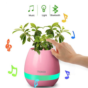 ingrosso led vaso di fiori-Musica Flower Pot Speaker Smart Wireless Finger Interruttore Bluetooth Ufficio Soggiorno Decorazione Home Speaker Desk Touch Night LED