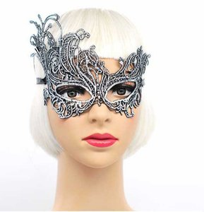 Wholesale Masquerade Half Face Mask Colors Prom Lace Hollow Mask Mysterious Lady Mask Pieces DHL