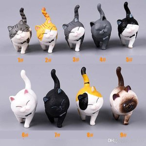 Wholesale Cat Figurine Playing Cat Action Figures Doll Toys Miniature Lifelike Kitten Animal Decoration mini fairy Garden Cartoon Car Decorative