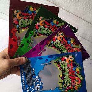 New Arrival Maylar bag Dank Gummies Zipper Bag Dry Tobacco Retail Bag Gummy candy mylar bags 500mg Packaging bags