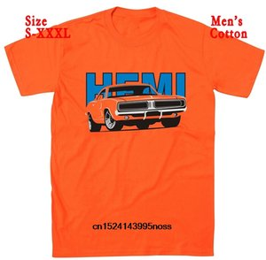 Wholesale Funny Men t shirt white t shirt tshirts Black tee Dodge Charger Hemi Classic Car Design Retro American Muscle Car T Shirt
