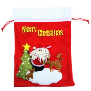 Wholesale Christmas gift bag old man gift bag Christmas flannelette stereoscopic candy decoration small gifts EMS free