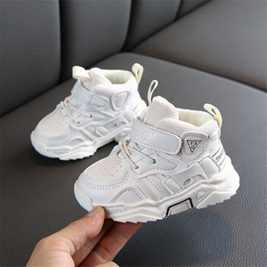DIMI 2019 Autumn Baby Girl Boy Toddler Shoes Infant Casual Walkers Shoes Soft Bottom Comfortable Kid Sneakers Black White CJ191217 on Sale