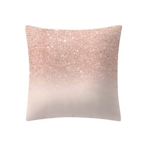 Rose Gold Pink Cushion Pillowcase Home Decoratio Simple Fashion Pillow Cases Cafe Home Solid color linen pillowcase on Sale