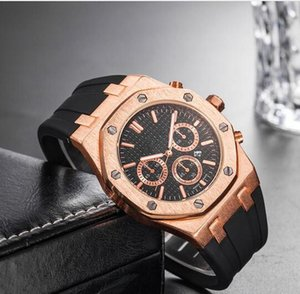 Brand Mens Mechanical Watches Royal Oak High Quality Luxury Crystal Silicone strap Designer Watch man Ladies women Casual watch 10 styles on Sale