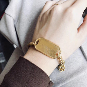 Have stamps Fashion brand gold designer bracelets for lady Women Party Wedding Lovers gift engagement Luxury Jewelry for Bride with box