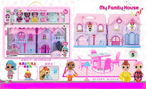 2018 new style Handmade Doll Villas, Light Music Castles, Doll Suits, Furniture, Doll Sprinklers, Variable-color hair toys