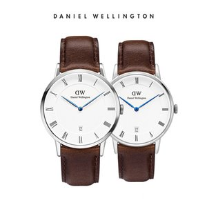 Wholesale 2018Top Blue Needle Hot selling silver rose gold lover couple DW design brands Japanese movement watch custom the logo you need