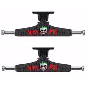 """Royal 2PCS Black Skateboard Trucks 5.25"""" Middle Hollow Truck Skate board Bridge for Skate Deck Aluminum Skateboard Bracket"""