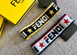 Wholesale 2019 designer mens headband women headbands brand headbands Head Scarf double f letter Star style hair bands with tag