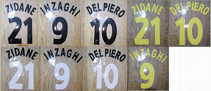 Vintage 1996-2000 ZIDANA INZAGHI DEL PIERO nameset patch badge
