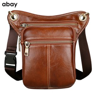 Wholesale 2019 New High Quality pu leather men s chest bag outdoor sports pockets multi function leg bag riding