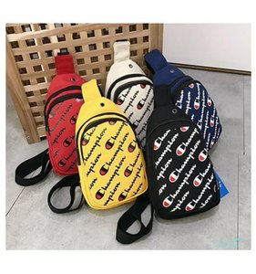 DHL Unisex Champions Letter Printed Chest Bag Crossbody Waist Chest Pack Belt Strap Handbag Shoulder Bags Travel Beach Sports Purses C6308