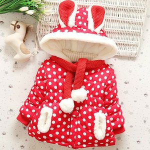 Female Baby Infant 2018 New Winter Girls Coat Cotton Clothes 0-4 Years Old Children's Winter Children Plus Velvet Padded on Sale