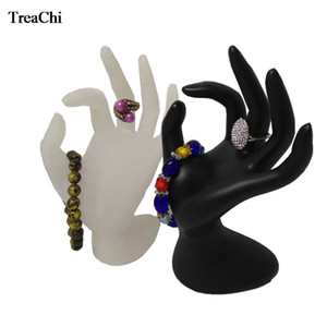 Wholesale Fashion White Acrylic Jewelry Display OK Hand Shelf Black Ring Organizer Holder Resin Chain Bracelet Bangle Ring Storage Stand