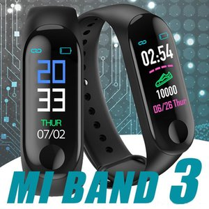 Wholesale M3 Smart Band Bracelet Heart Rate Watch Activity Fitness Tracker pulseira Relógios reloj inteligente Smartband XIAOMI apple watch MQ20