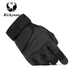ingrosso guanti motocycle-Us Military Tactical Gloves Outdoor Sports Army Full Finger Combat Motocycle Guanti in fibra di carbonio antiscivolo