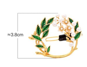 Wholesale Small fresh drops of flowers pearls diamonds hair clips women s trend temperament fashion holiday accessories