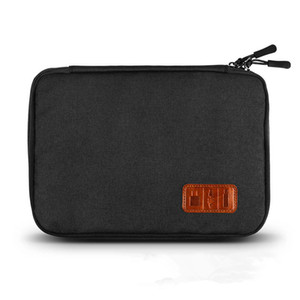ZHS waterproof Ipad organizer USB data cable earphone wire pen power bank travel storage bag kit case digital gadget devices