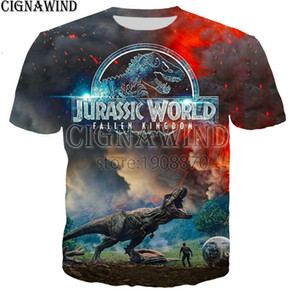 Wholesale Jurassic world fallen UK Jurassic t shirt men women D print novelty funny t shirts summer tops hip hop t shirt streetwear A20