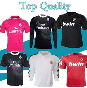 Wholesale real madrid league resale online - S XXL Real Madrid soccer jersey league RAMOS KAKA RONALDO RAUL BENZEMA ALONSO retro jersey classic shirt