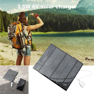 Wholesale 3 W V USB charger mobile phone Solar Panel Power Bank External Battery Charger Outdoor Travelling for cellphone Tablet
