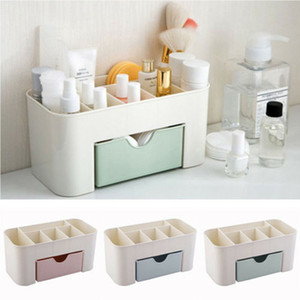 Wholesale Plastic Storage Box Makeup Organizer Case Drawers Cosmetic Display Storage Organizer Office Sundries Make Up Container Boxes