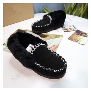 Wholesale Luxury Australia Real Leather Women Boots UG Brand Winter Shoes Furry Slides Sneakers Fur Loafers Cowskin Ankle Short Snow Boots C102402