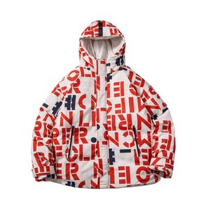 Wholesale Print High Street Couple Hooded Cotton Parkas Men Hip Hop Thick Warm Snow Men Cotton Coat Windbreaker Outwear Puffer Jacket