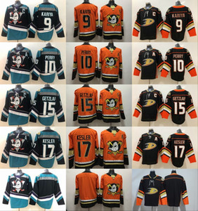 Mighty Anaheim Ducks Hockey Jersey Ryan Getzlaf Corey Perry Kesler Teemu Selanne Paul Kariya Charlie Conway Gordon Bombay black teal orange on Sale