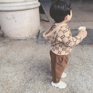 Fashion 2020 autumn and winter cute warm children sweater new letters comfortable soft sweater boys sports hooded sweater